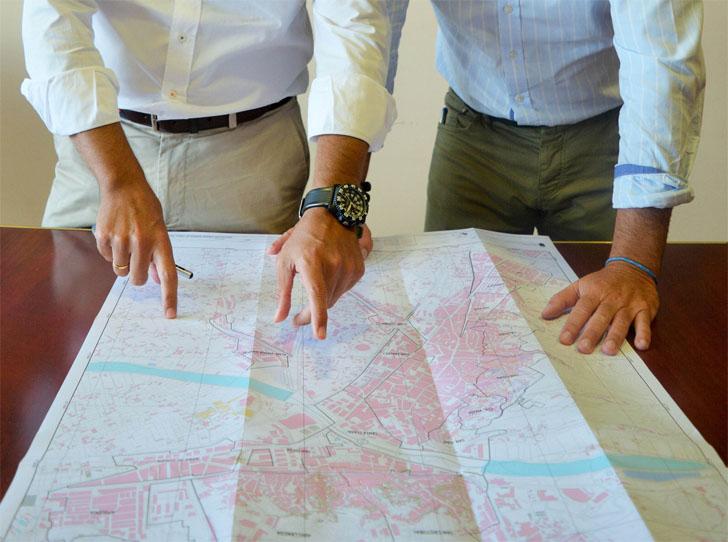 Mapa de los barrios de Lorca en los que se llevará a cabo una regeneración urbana sostenible e inteligente