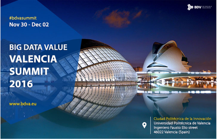 'Big Data Value Valencia Summit' reune a 300 interesados en la gestión de datos abiertos.