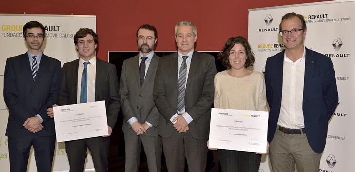 Ganadores del Concurso al Mejor proyecto de fin de carrera sobre Movilidad Sostenible de la Fundación Renault para la Movilidad Sostenible