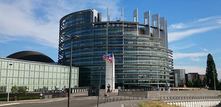 Sede del Parlamento Europeo en Estrasburgo, donde ha sido aprobada, y ya está en vigor, la Directiva sobre Accesibilidad en las webs y Apps para móviles de las Administraciones Públicas