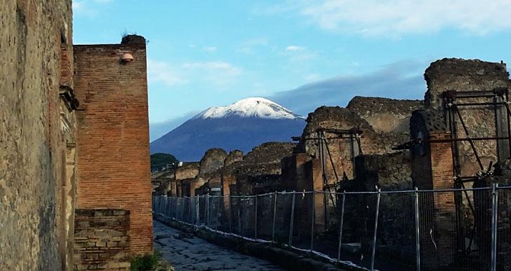 Tecnología de videovigilancia para el legado arqueológico de Pompeya. Cámara ubicada en el exterior