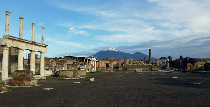 Tecnología de videovigilancia para el legado arqueológico de Pompeya. Imagen exterior de las Ruinas