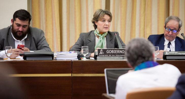 La ministra de Medio Ambiente, Isabel García Tejerina, en comparecencia.