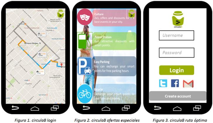 circulaB: transformación de la movilidad urbana en grandes urbes. Interfaz aplicación circulaB