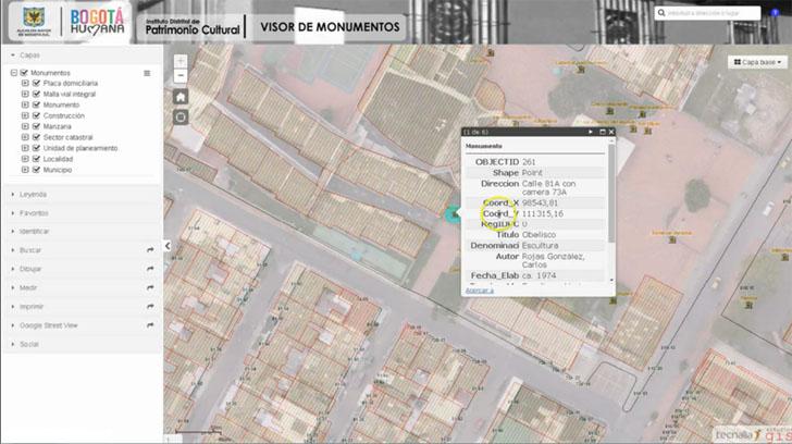 Imagen del Sistema de Información Geográfica