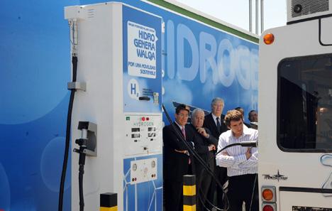 Inauguración de hidrogenera en el Parque Tecnológico Walqa de Huesca
