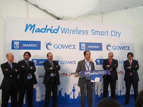 Rueda de presna de presentación del proyecto Madrid Wireless Smart City