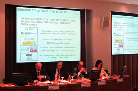 Carlos Bergara, director de Movilidad Verde de Iberdrola, durante su intervención