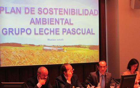 José Carlos Espeso, responsable de Logística del Grupo Leche Pascual, en un momento de su intervención