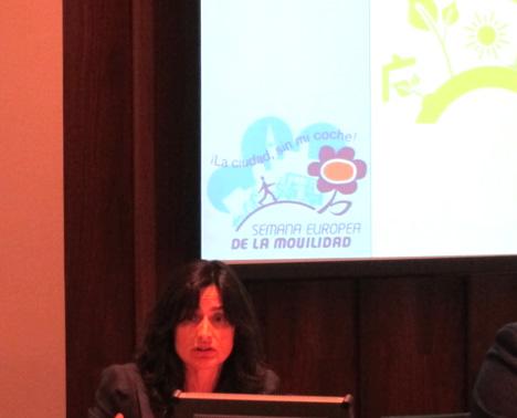 La subdirectora general de la Secretaría de Estado para la UE del Ministerio de Asuntos Exteriores y de Cooperación, Teresa Molina Schmid, durante su intervención en la jornada.
