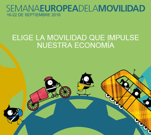 El reto de la Movilidad Urbana Sostenible e Inteligente. Cartel de la Semana Europea de la Movilidad