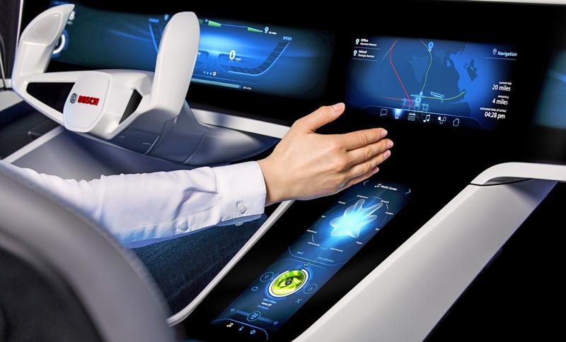 Bosch presentó en Las Vegas su idea de coche inteligente que se conecta con la Smart City.