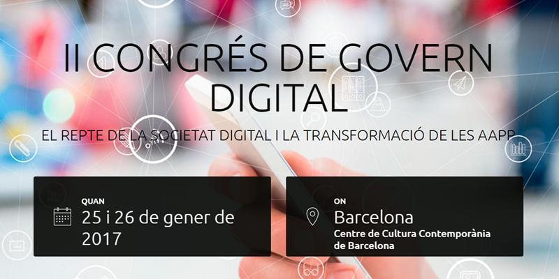 El II Congreso de Gobierno Digital se celebra en Barcelona y tratará sobre transformación digital y Gobierno Abierto.