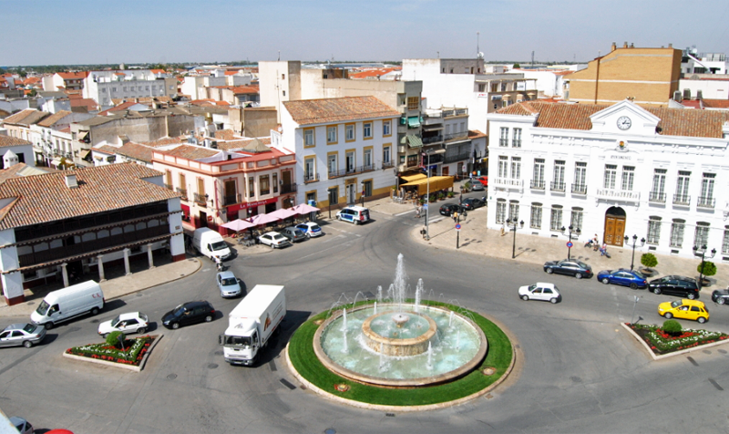 Plaza de España de Tomelloso, cuya Estrategia DUSI será financiada con 5 millones de euros.