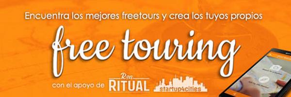 Figura 1. Free Touring cuenta con el apoyo de Ron Ritual y startup4cities.