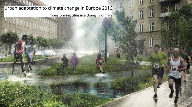 Portada del informe de la Agencia Europea del Medio Ambiente advierte de la necesidad de construir ciudades resilientes ante los efectos del calentamiento global.