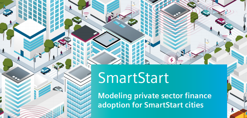 Parte de la portada del estudio 'Diseño de la financiación del sector privado para las ciudades SmartStart'