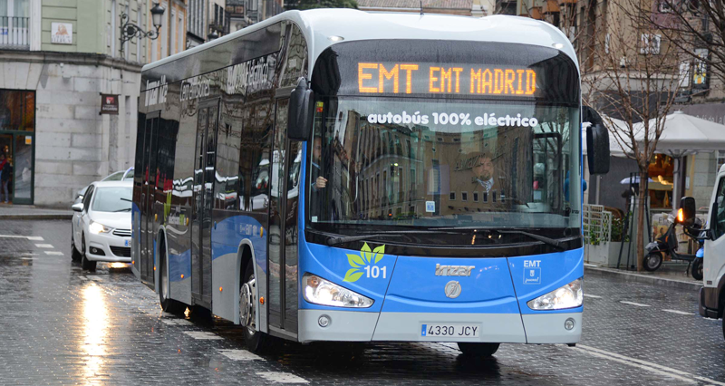 El autobús 100% eléctrico circula en pruebas en la línea 39 de Madrid y genera cero emisiones.
