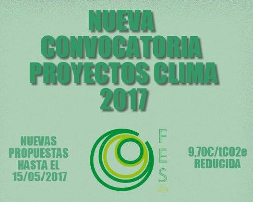 La Convocatoria Proyectos Clima 2017 recibirá propuestas de proyectos para la reducción del carbono hasta el 15 de mayo.