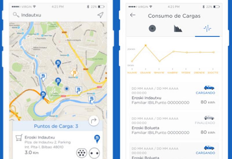 A través de la App se puede localizar el punto más cercano o el que más convenga al conductor, reservar el punto de recarga y hacer un seguimiento del proceso desde el móvil.
