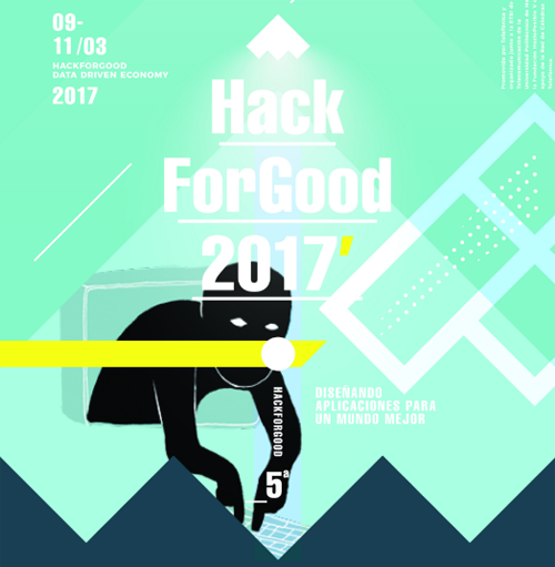 Cartel de la nueva edición del HackForGood 2017.