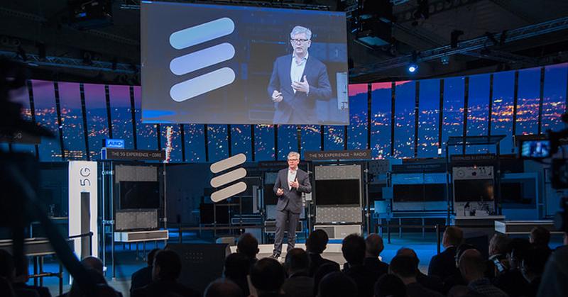 presidente y CEO de Ericsson, Börje Ekholm, anunció nuevas pruebas de 5G en asociación con otras compañías.