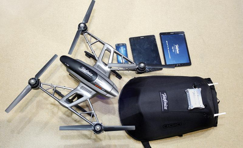 La red autónoma LTE Nano se guarda en una mochila. Un dron emite imágenes en situaciones de rescates que son visualizadas en tablets y teléfonos inteligentes.