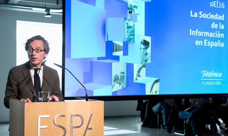 José María Lasalle, secretario de Estado para la Sociedad de la Información y Agenda Digital, durante la presentación del informe La Sociedad de la Información en España 2016.
