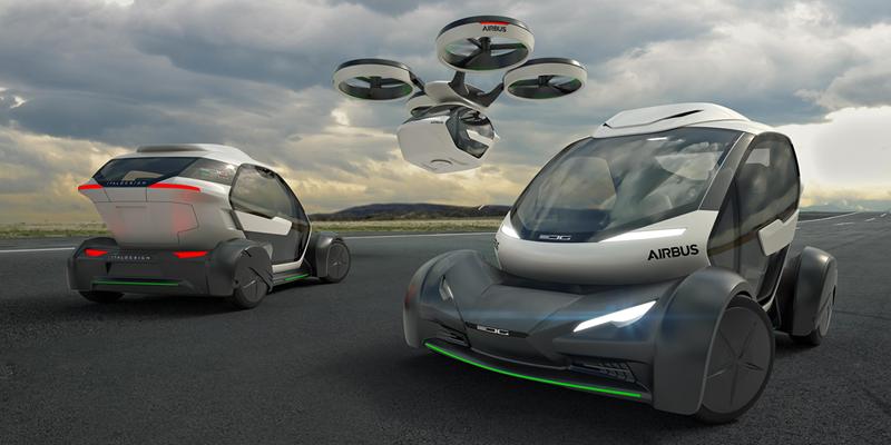 El desarrollo Pop.Up ofrece un nuevo concepto de transporte multimodal capaz de ser un coche eléctrico que también vuela, en función de preferencias y factores externos como el tráfico. Es obra de Airbus e Italdesign