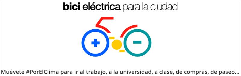 Muévete #PorElClima promueve la movilidad sostenible mediante descuentos para comprar bicicletas eléctricas.