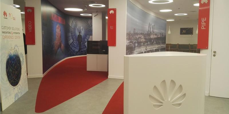 Nuevo centro de experiencias y demostraciones tecnológicas de Huawei en Madrid.