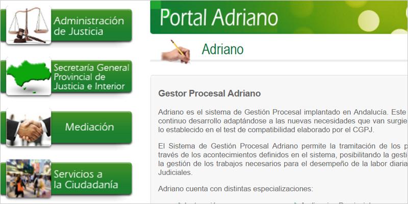 El sistema de digitalización Adriano unificará la gestión procesal de la Administración de Justicia de Andalucía.