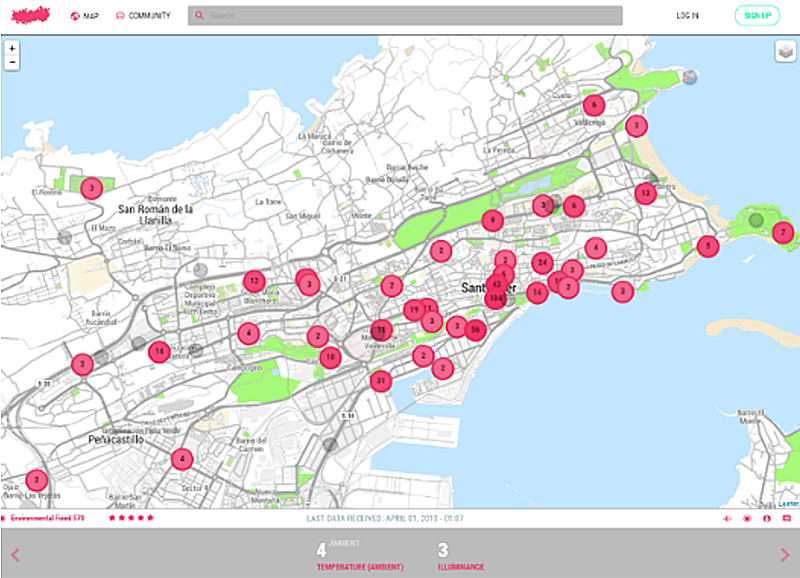 Figura 2. Ejemplo de una captura en relación al Urban Data Observatory (UDO).