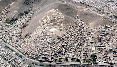Figura 4. Vista aérea del Cerro Fortaleza.