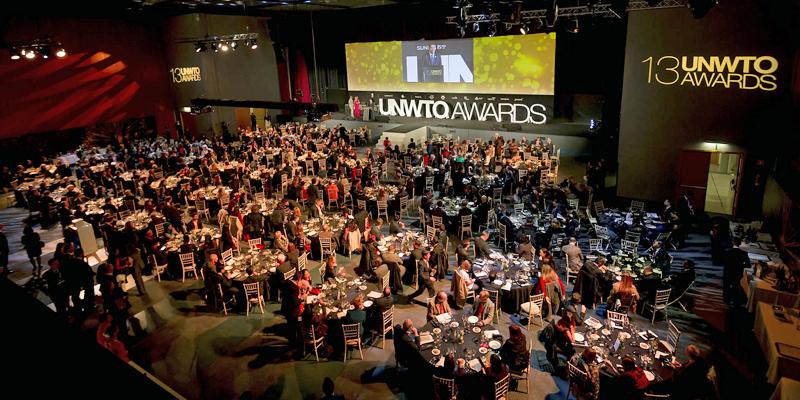 Ceremonia de entrega de los Premios de la OMT a la Excelencia y la Innovación en Turismo en su edición anterior, en el marco de FITUR.