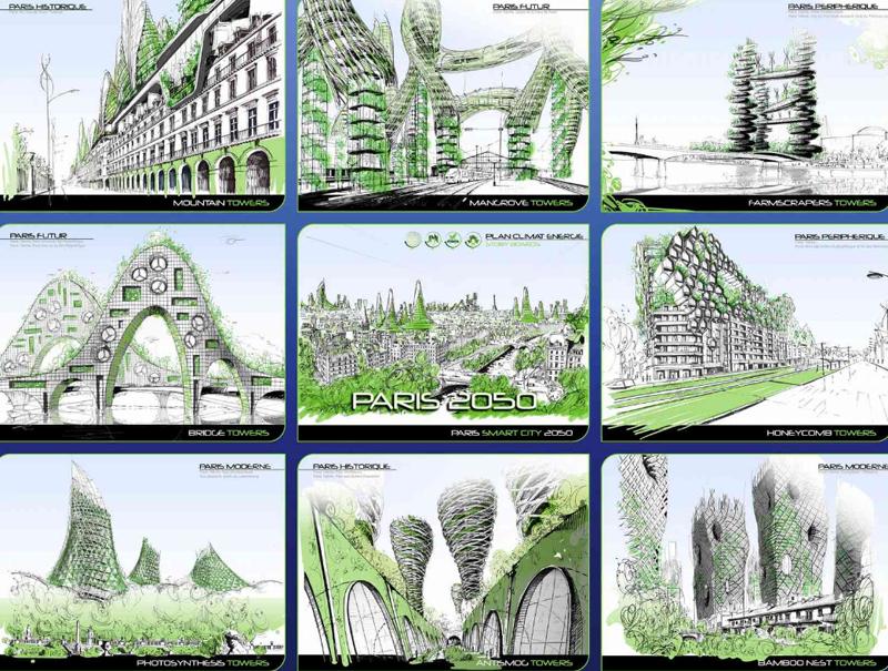 El proyecto 'París Smart City 2050' presenta ocho prototipos de torres que van más allá de meros edificios y dibujan una ciudad sostenible.