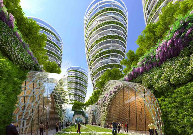 Corredores ecológicos sobre la antigua línea de ferrocarril, rodeados de huertos urbanos y edificios autosuficientes, forman parte de 'París Smart City 2050'.