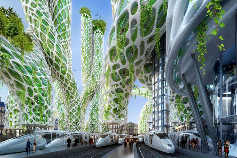 Estos edificios, diseñados bajo la inspiración de la vegetación de manglares, son de energía positiva y albergan oficinas, viviendas y hoteles.