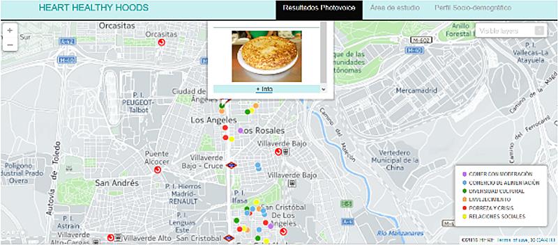 Figura 6. Categorías, Fotografías & Debates localizados en la Plataforma HERE.