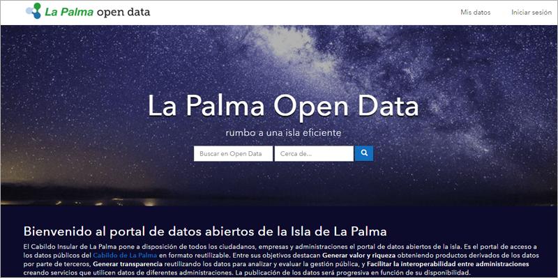 Portal La Palma Open Data.