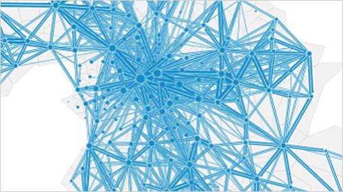 Histórico de flujo de tráfico de datos dentro y en los alrededores de Núremberg.