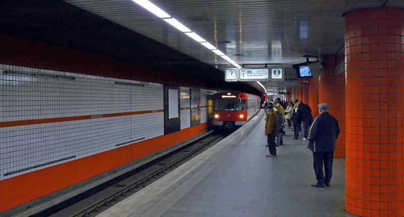 El estudio ha analizado los patrones de comportamiento de los residentes en Núrember a la hora de moverse por la ciudad en las distintas modalidades de transportes. Metro de la ciudad.