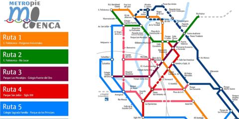 Metropie, red de transporte urbano peatonal, accesible y ciclista. El caso de Cuenca: arte, cultura, paisaje y cuestas.