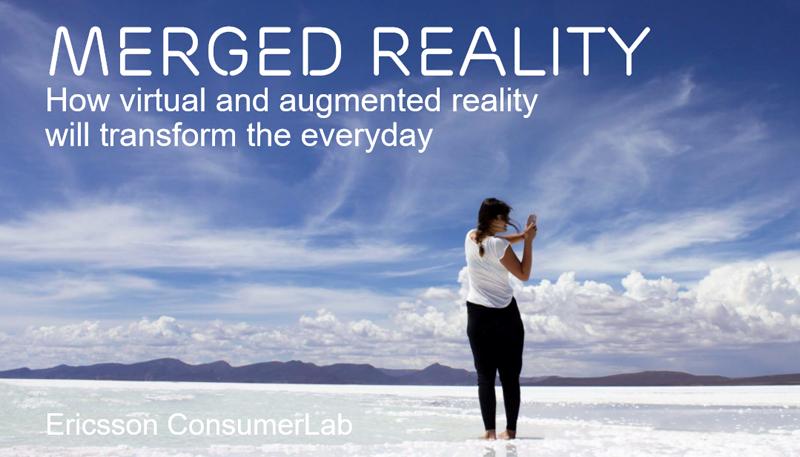 El informe ConsumerLab de Ericsson se basa en opiniones de más de 9.000 pioneros que consideran que la realidad aumentada y la realidad virtual cambiarán su vida diaria en seis aspectos fundamentales.