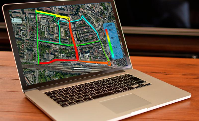 A través de la herramienta QGIS se puede visualizar el nivel de tráfico en las vías monitorizadas.
