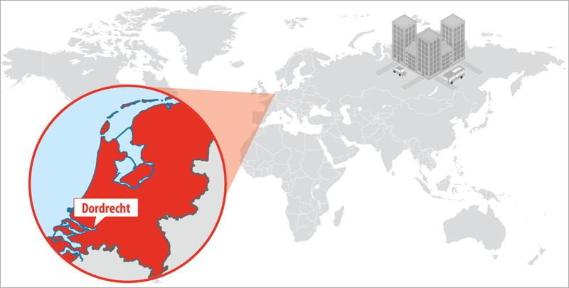 Dordrecht cuenta con unos 120.000 habitantes y se ubica en el suroeste de Países Bajos, a unos 25 kilómetros de Róterdam.