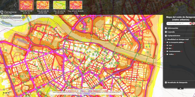 Mapa De Zaragoza Ciudad.Zaragoza Desarrolla Un Mapa De Ruido De La Ciudad Con