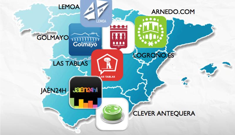 Figura 1. Implantación de SmartAppCity en España.