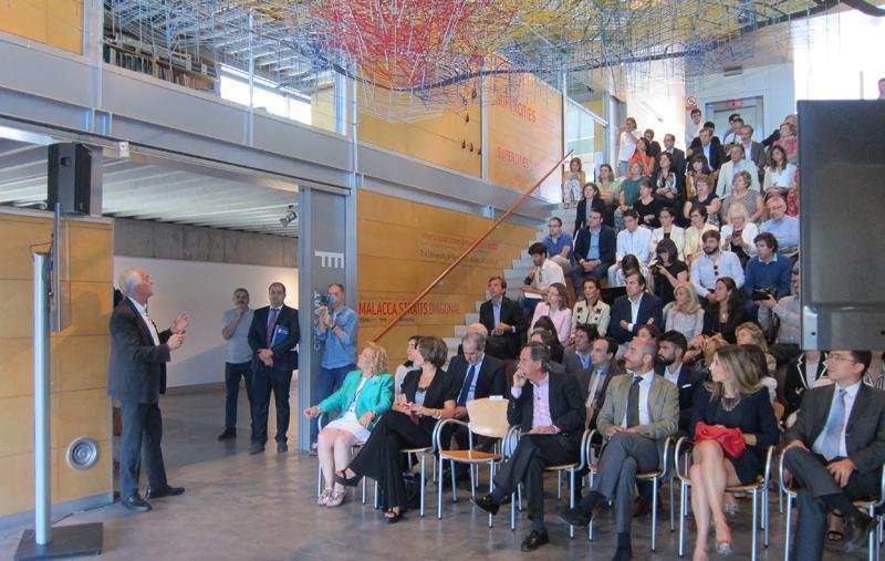 Alfonso Vegara, fundador y presidente de honor de la Fundación Metrópoli, durante la presentación del proyecto.