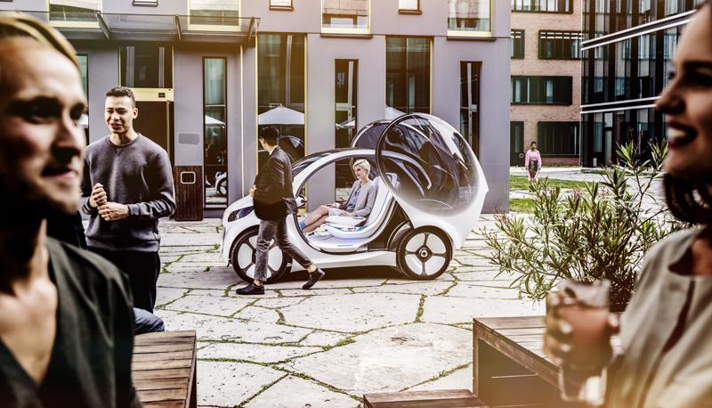 Este modelo quiere reunir las cuatro tendencias de la movilidad del futuro: carsharing, autónomo, conectado y eléctrico.
